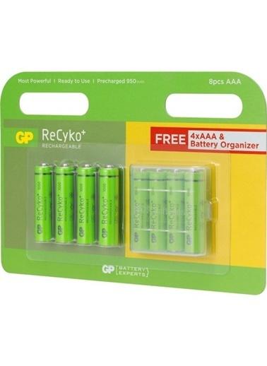GP Gp Recyko 1000 Serisi Şarjlı Aaa İnce 4+4 (8'Li) Aaa Şarjlı Pil Renksiz